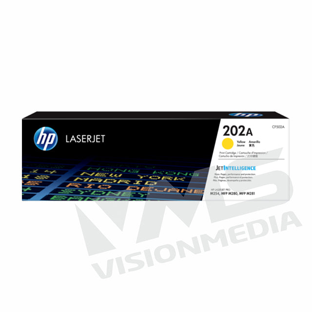 HP 202A YELLOW TONER CARTRIDGE (CF502A)