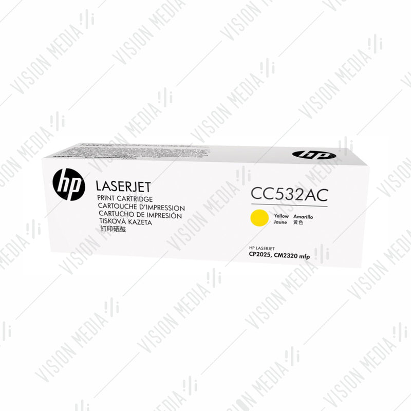 HP 304A YELLOW CONTRACTUAL TONER CARTRIDGE (CC532AC)
