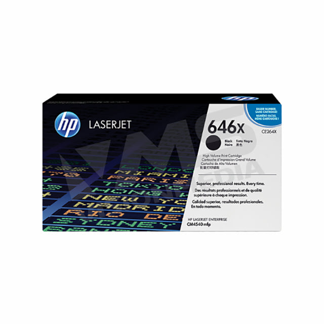 HP 646X HIGH YIELD BLACK TONER CARTRIDGE (CE264X)