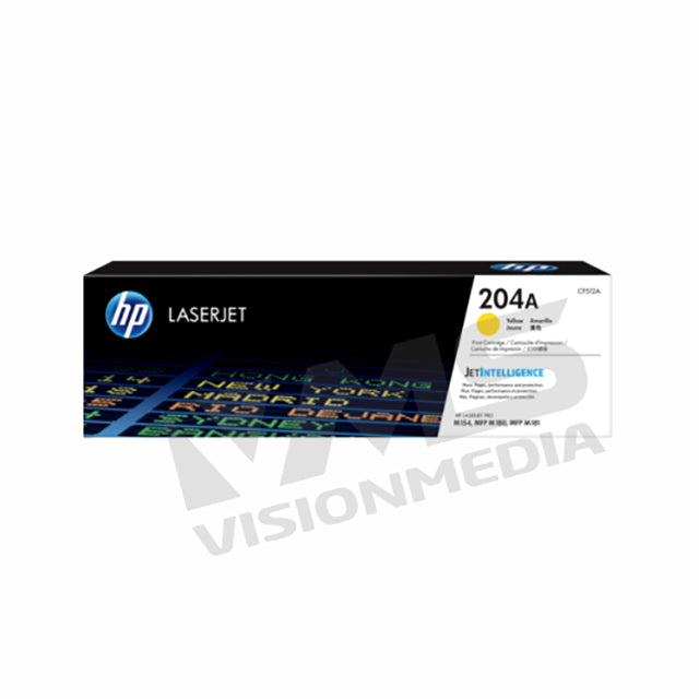 HP 204A YELLOW TONER CARTRIDGE (CF512A)
