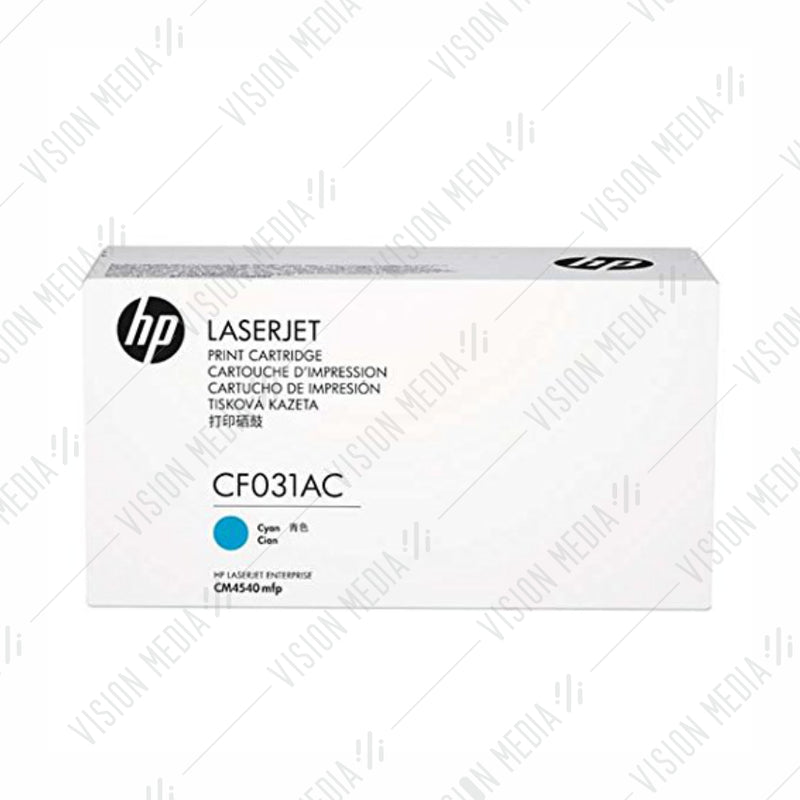 HP 646A CYAN CONTRACTUAL TONER CARTRIDGE (CF031AC)