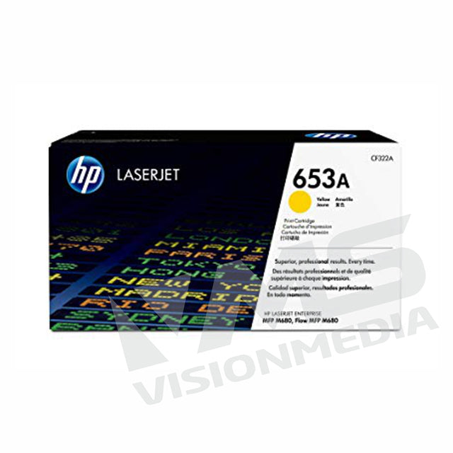 HP 653A YELLOW TONER CARTRIDGE (CF322A)