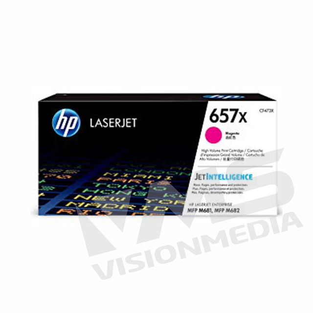 HP 657X HIGH YIELD MAGENTA TONER CARTRIDGE (CF473X)