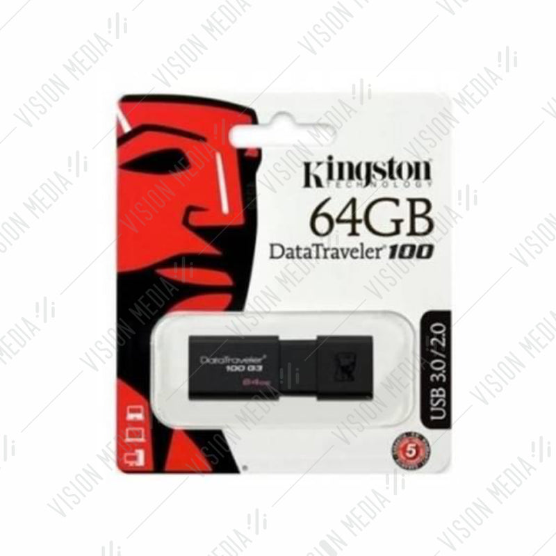 KINGSTON DT 100 GENERATION 3 (G3) 64GB (DT100G3/64GBFR)