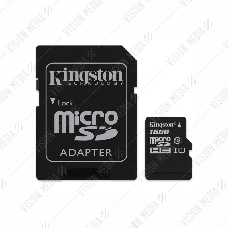 KINGSTON MICRO SDHC CLASS 10 CARD - 16 GB (SDC10/16GB)