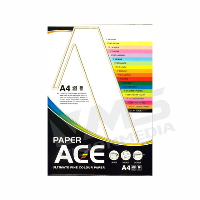 UNI ACE 100GSM A4 SIZE WHITE PAPER (450 SHEETS)