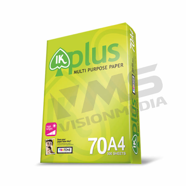 IK PLUS 70GSM A4 SIZE PAPER (500 SHEETS)