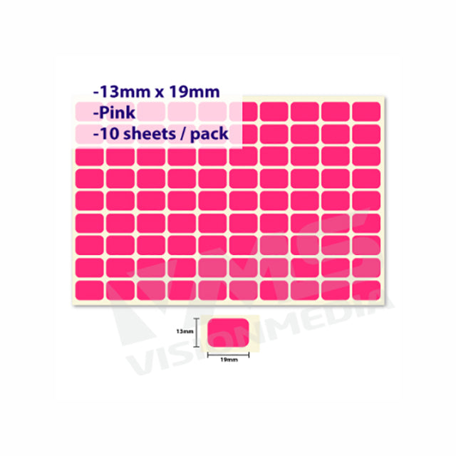 LABEL STICKER 13MM X 19MM