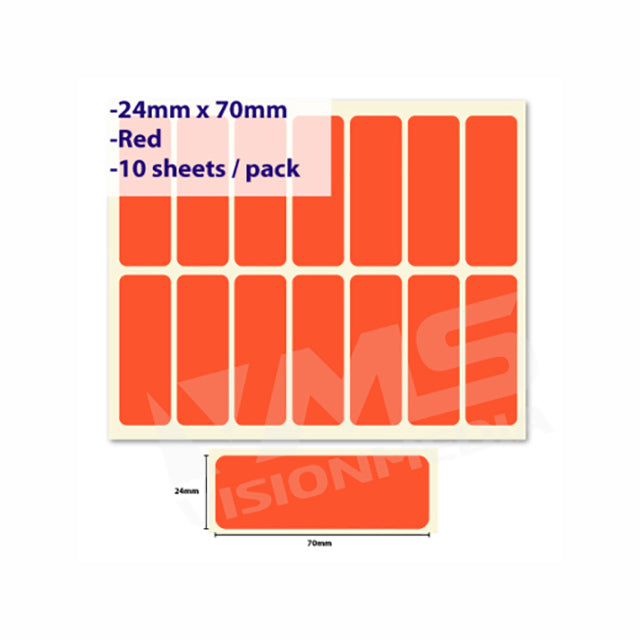 LABEL STICKER 24MM X 74MM