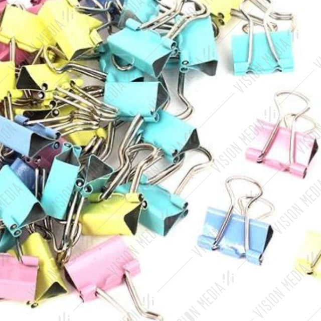 "BINDER (DOUBLE SIDED) CLIP 3/4""(19MM) MIX COLOUR (12 PCS/BOX)"