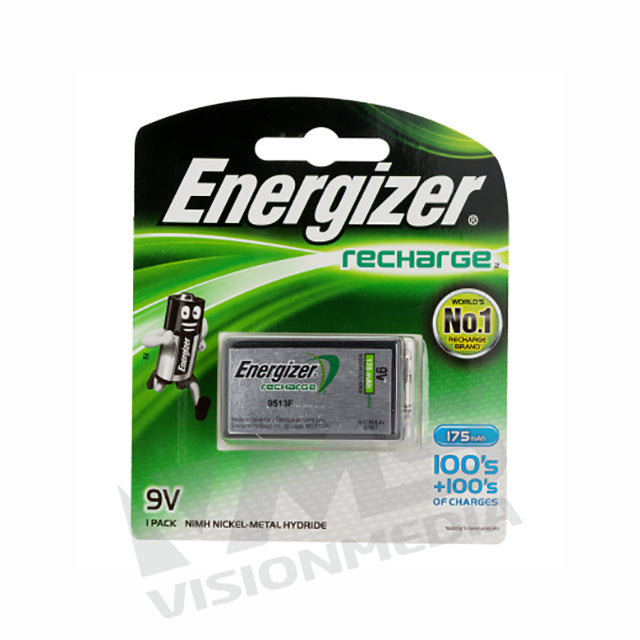 ENERGIZER RECHARGEABLE BATT 9V 150MAH (1PCS) (NH22BP1G)