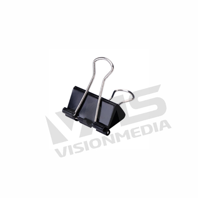 "BINDER (DOUBLE SIDED) CLIP 3/4""(19MM) (12PCS/BOX) (NO.107)"