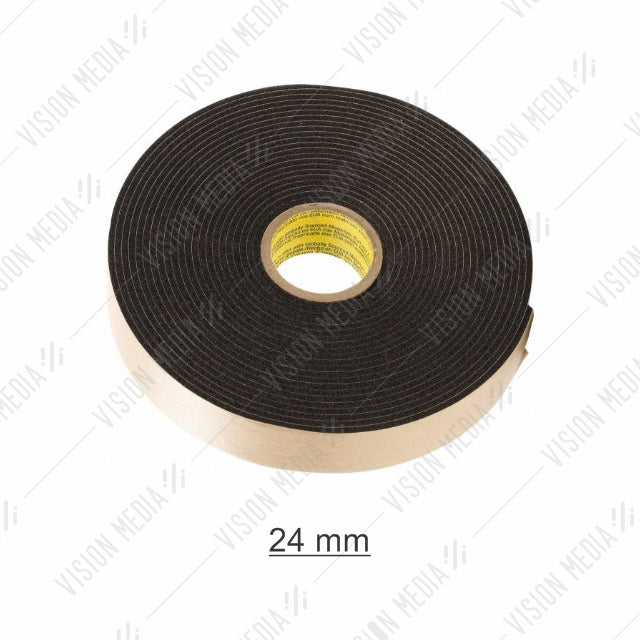 EVA DOUBLE SIDED BLACK FOAM TAPE 24MM X 8M