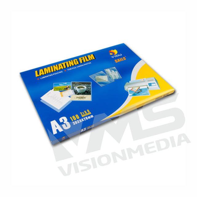 A3 LAMINATING/POUCHER FILM (303MMX426MMX100MIC) (100PCS/PACK)