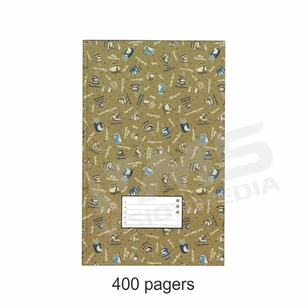 HARD COVER FOOLSCAP BOOK 400 PAGES, 60GSM (EAGLE)