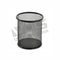 STATIONERY / PEN HOLDER WIRE MESH ROUND (BLACK)