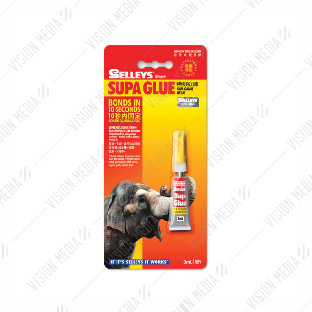 SELLEYS SUPA GLUE SINGLE TUBE 3ML (GL-0045)