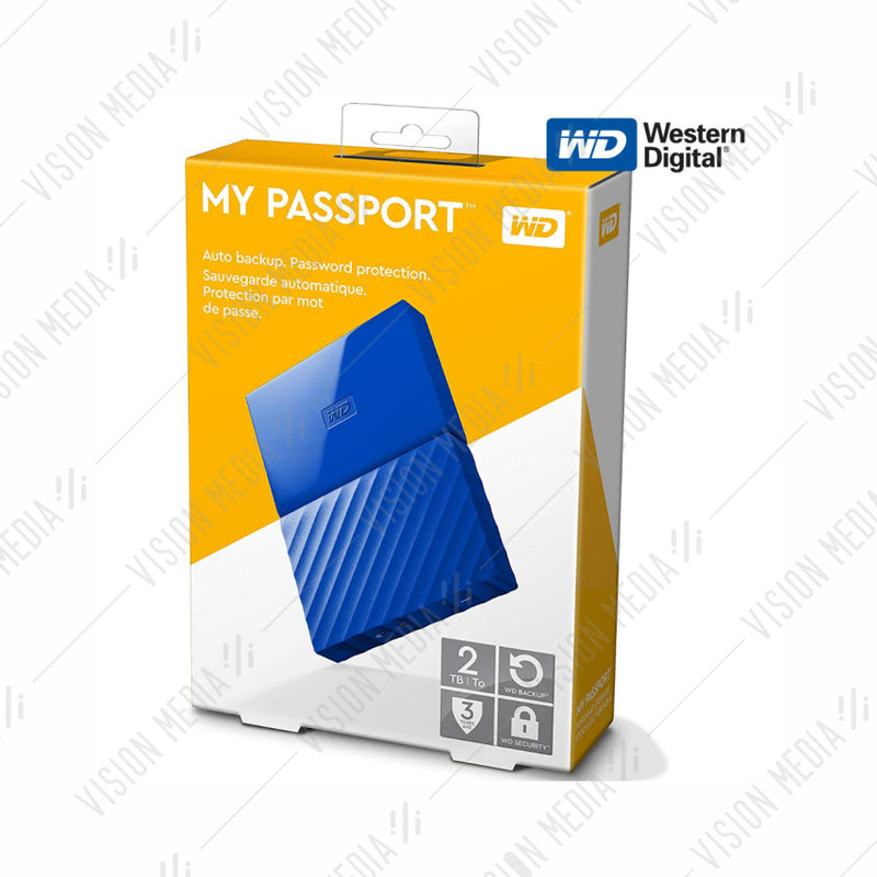 "WD PASSPORT 2.5"" 2TB USB3.0 HDD BLUE (WDBS4B0020BBL)"