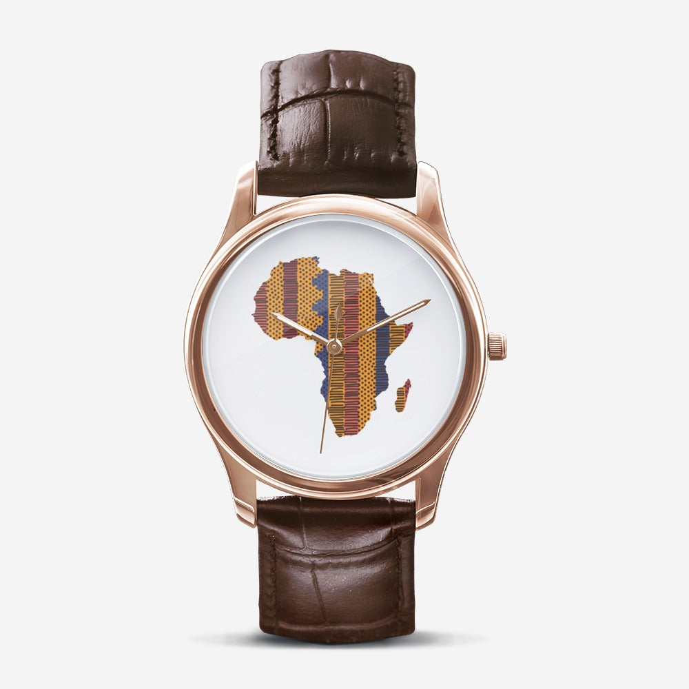 African Time Men's Watch - Brown - Redsoil