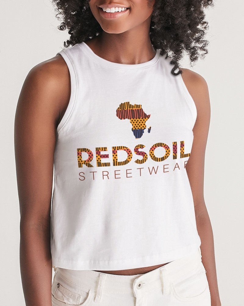 Redsoil Kente Logo Women's Cropped Tank - Redsoil
