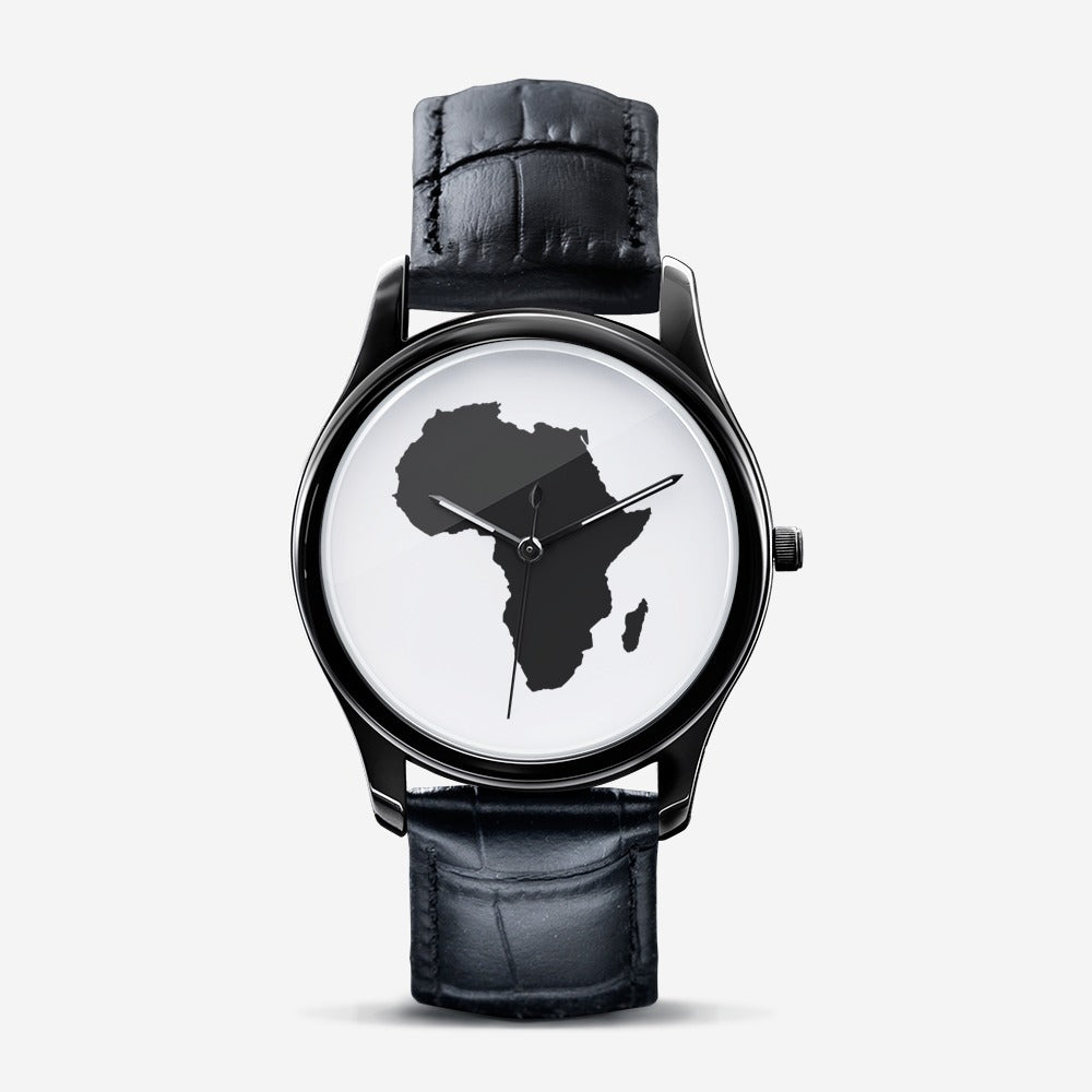 African Time Men's Watch - Black - Redsoil