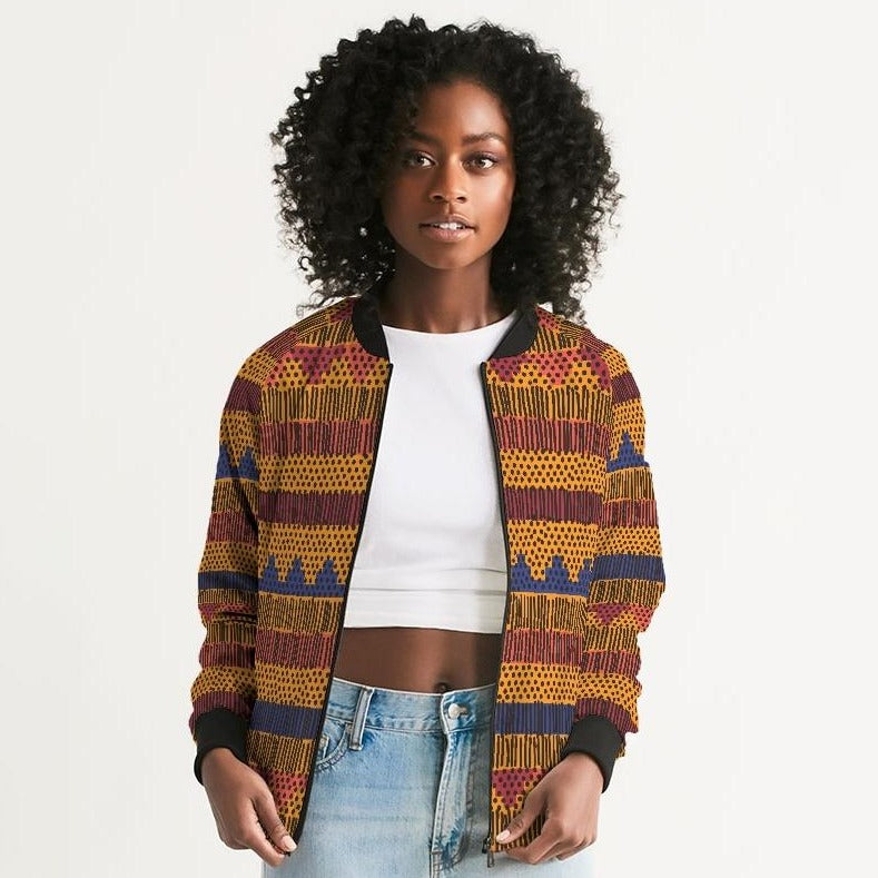 Kente Women's Bomber Jacket - Redsoil
