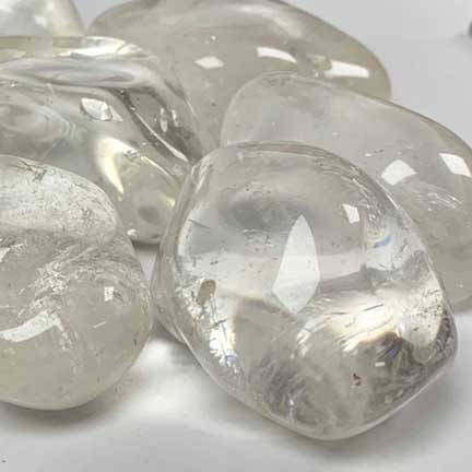 clear quartz tumble polished stones bulk wholesale