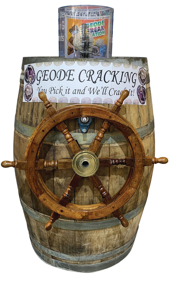 Pirate Wheel Geode Cracker Barrel