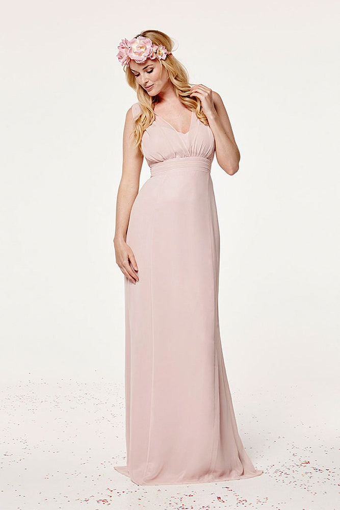 Amy Fitted Blossom Pink Bridesmaids Dress (Front)