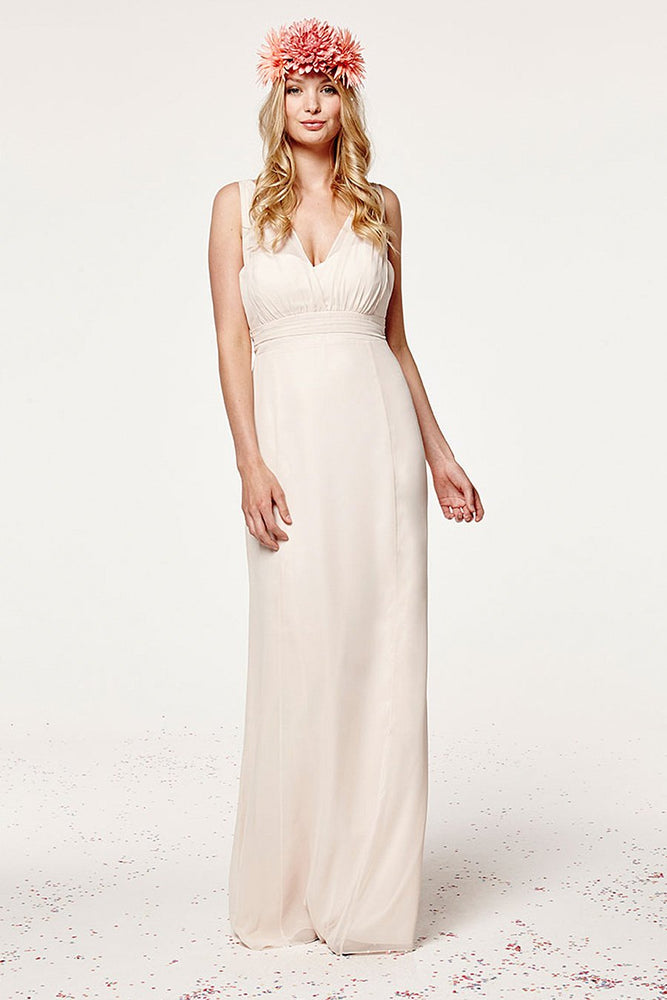 Amy Fitted Cream Soda Bridesmaids Dress (Front)