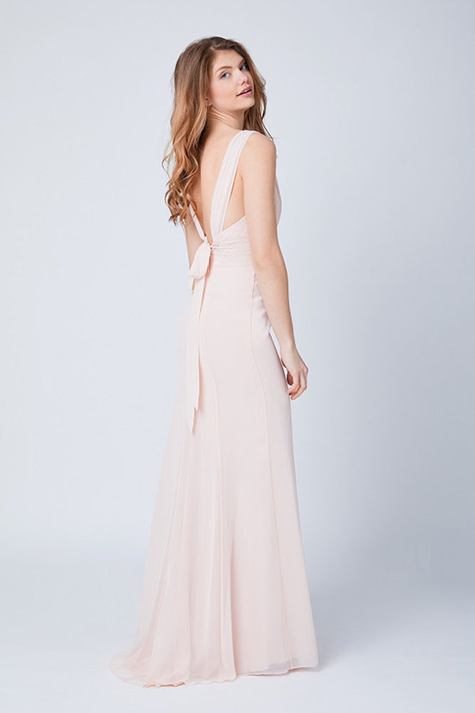 Amy Fitted Just Peachy  Bridesmaids Dress (Back)