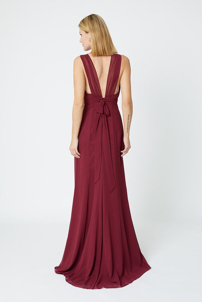 Amy Floaty Burgundy dress (Back Zoom)