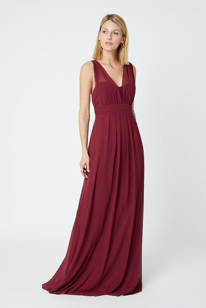 Amy Floaty Burgundy Red Dress