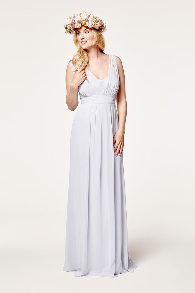 Amy Floaty Bridesmaid Dress in Cloud Blue