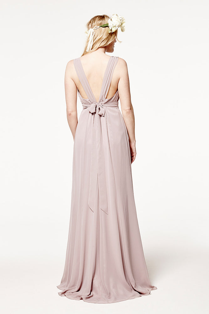 Amy Floaty Frosted Fig dress (Back)