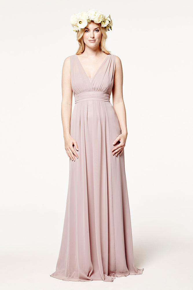 Amy Floaty Frosted Fig Mauve Dress