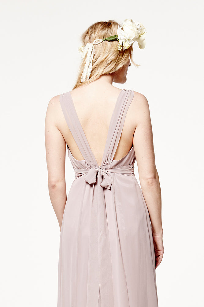 Amy Floaty Frosted Fig dress (Back Zoom)