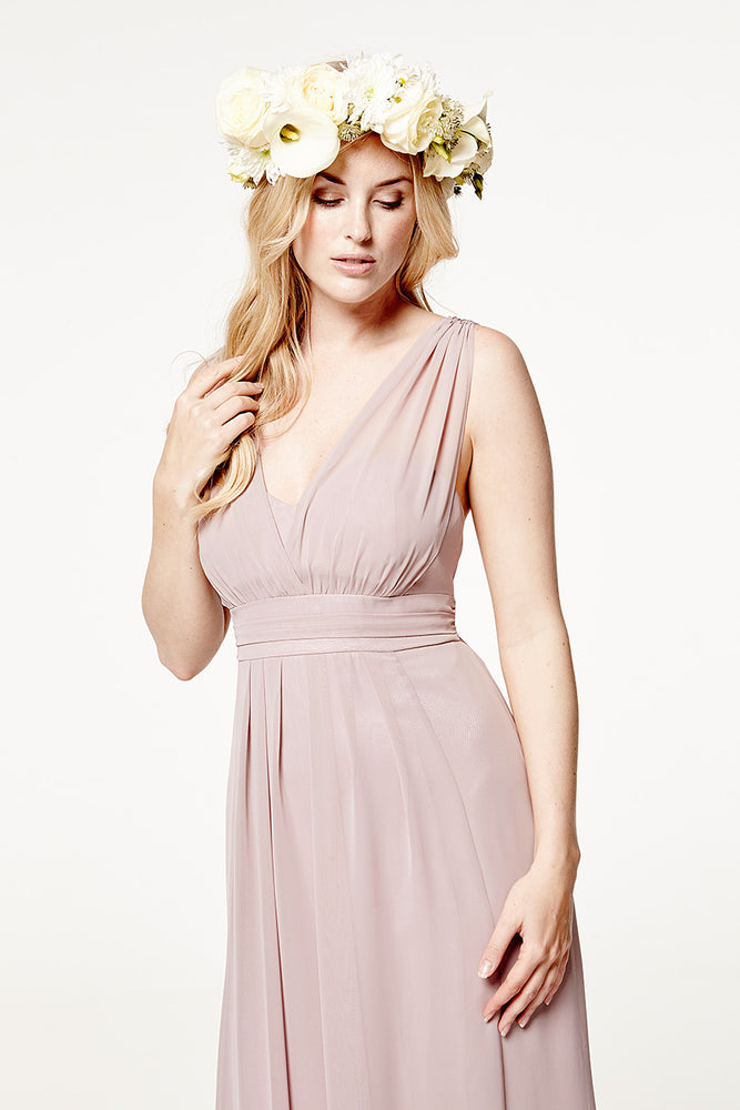 Amy Floaty Frosted Fig dress (Front Zoom)