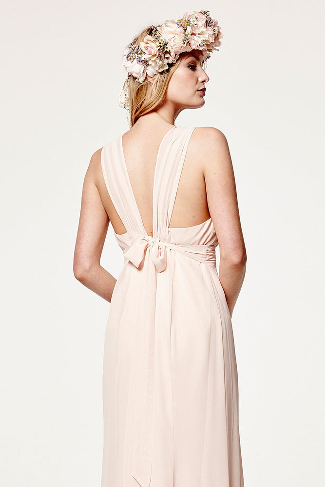 Amy Floaty Just Peachy Bridesmaids Dress (Back Zoom)