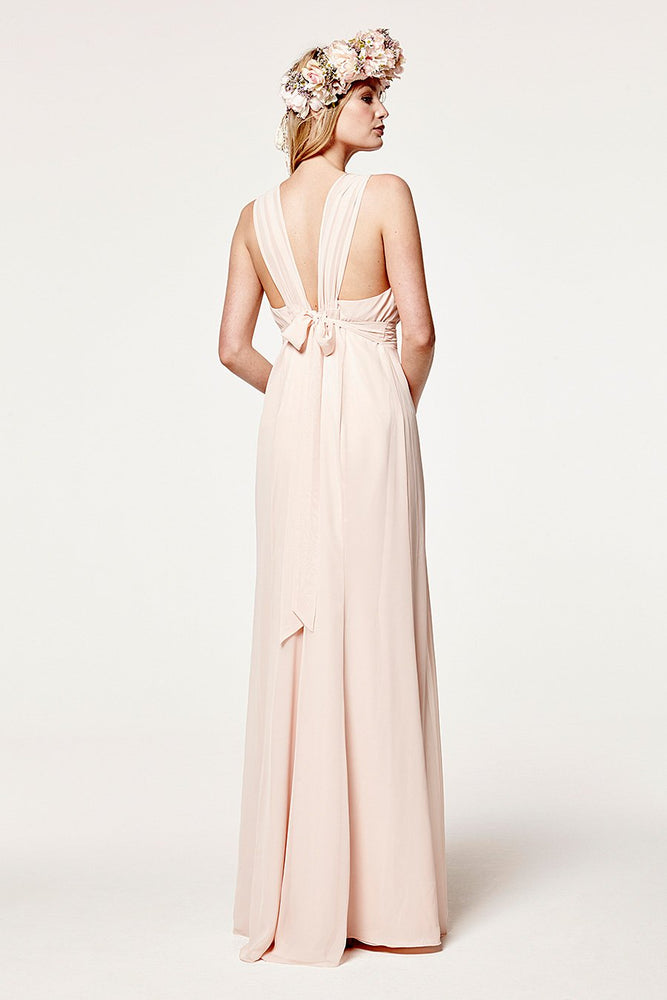Amy Floaty Just Peachy Bridesmaids Dress (Back)