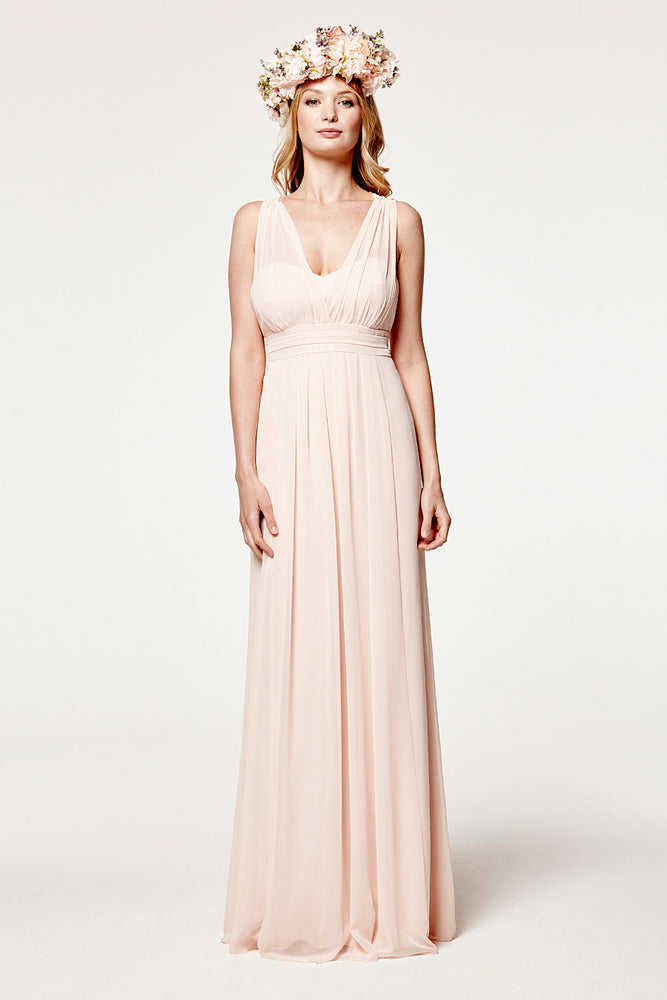 Amy Floaty Just Peachy Bridesmaids Dress (Front)