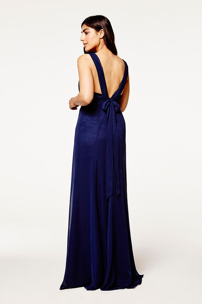 Amy Floaty Midnight Blue dress (Back Zoom)