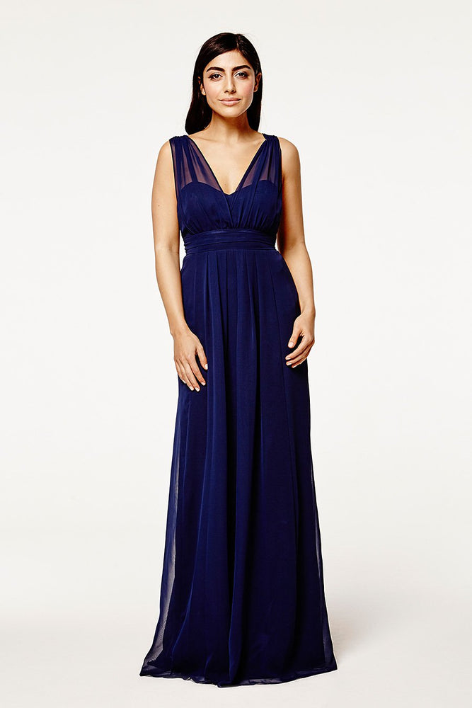 Amy Floaty Midnight Blue dress (Front)