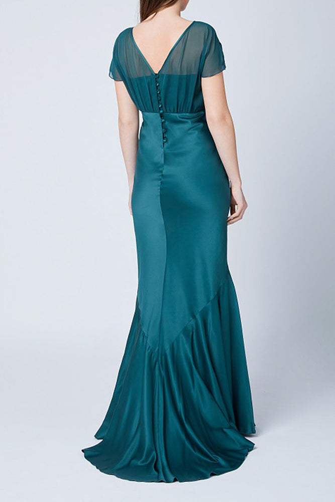 Bellatrix Fitted Forest Green Dress