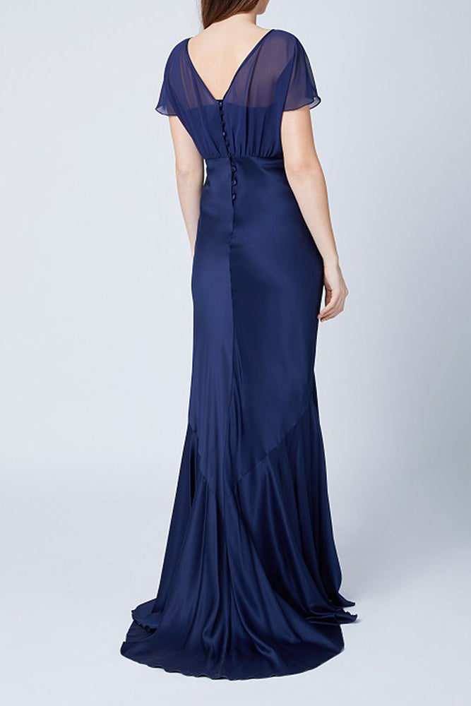 Bellatrix Fitted Midnight Blue Dress