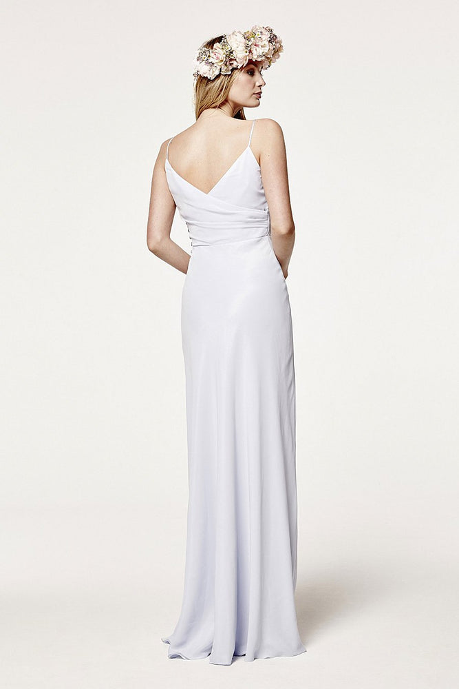 Cambridge  Cloud Blue Bridesmaids Dress (Back)