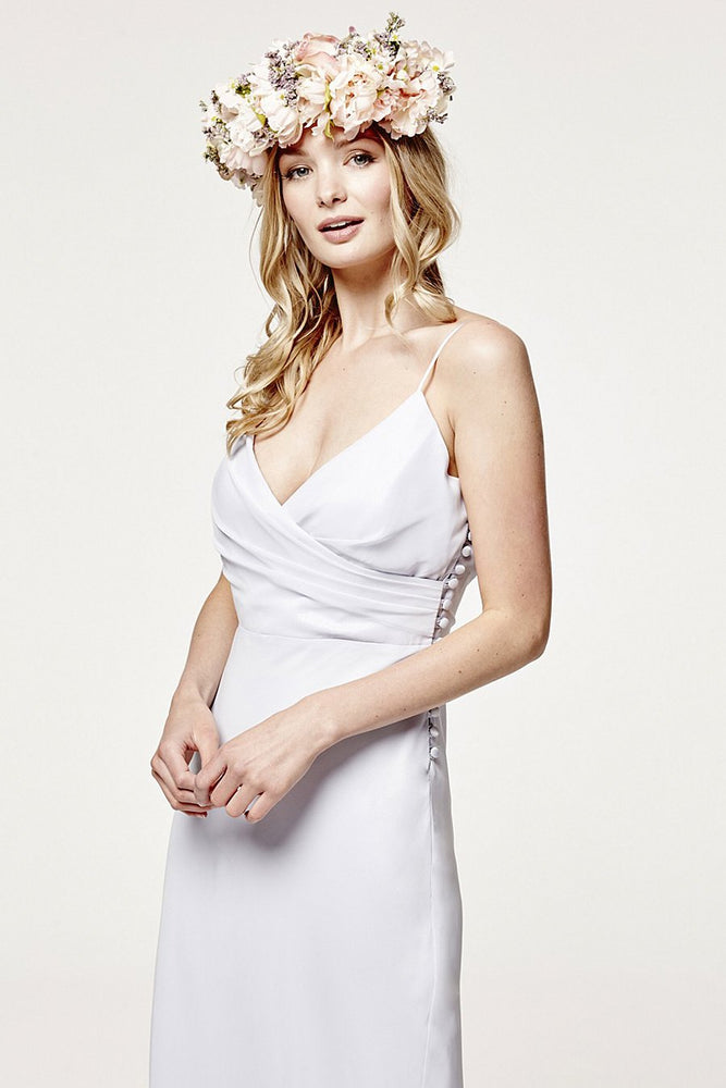 Cambridge  Cloud Blue Bridesmaids Dress (Front Zoom)