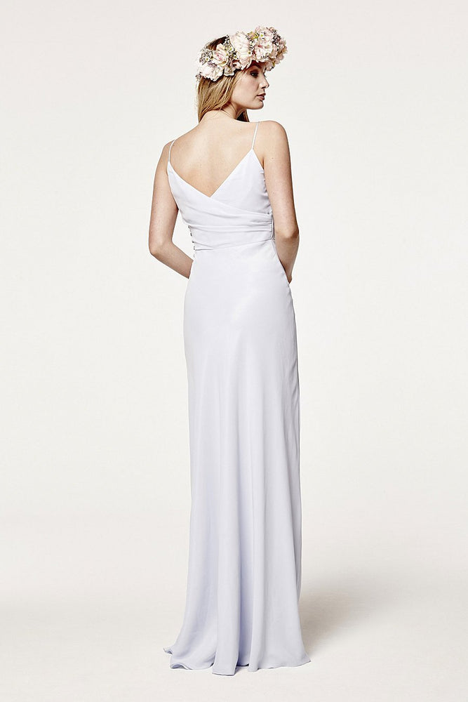 Cambridge Dove Grey Bridesmaids Dress (Back)