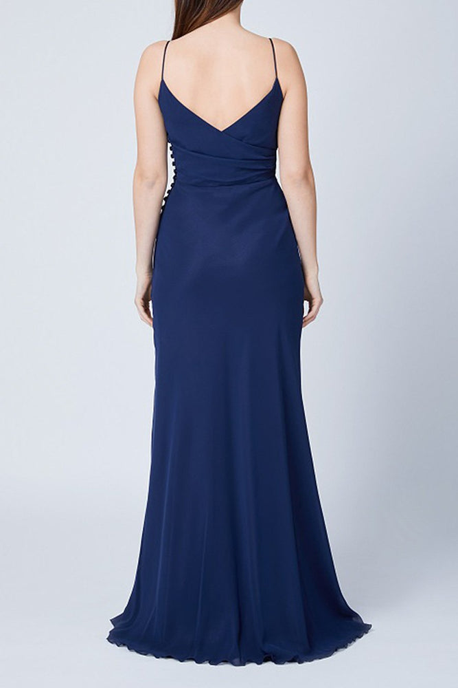 Cambridge Midnight Blue Bridesmaids Dress (Back)