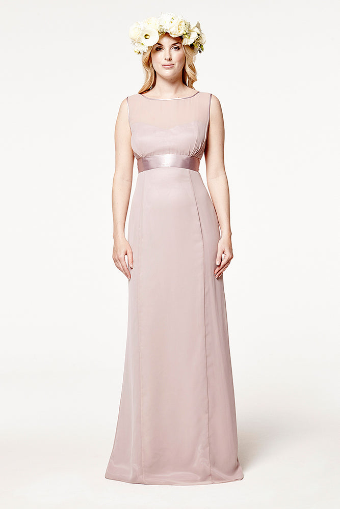 Charlotte Fitted Frosted Fig Mauve Dress